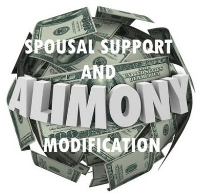 spousal support and alimony modification by the family law office of James J. Kenny